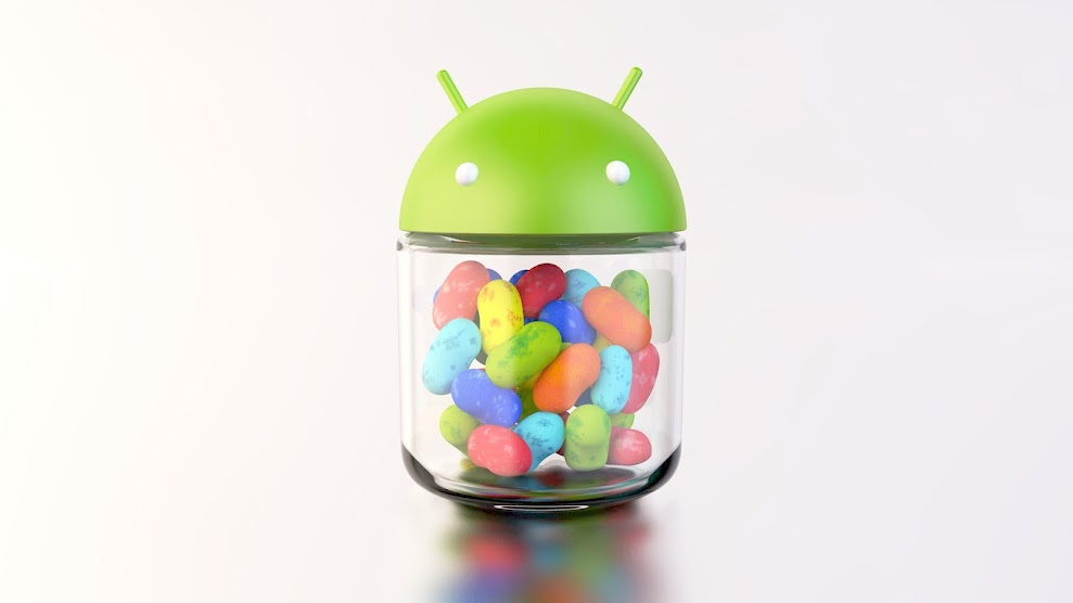 Android 4.1 Android Jelly Bean logo in official colors