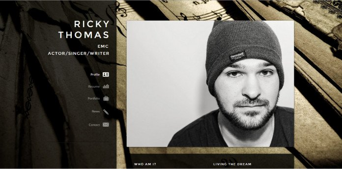 RickyThomas.net screenshot