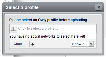 """Hootsuite - """"Please select an Owly profile before uploading"""" issue"""