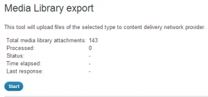 Media Library export - W3 Total Cache